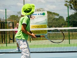 Hotshot tennis - Calen District State College primary tennis competition with Ms Green
